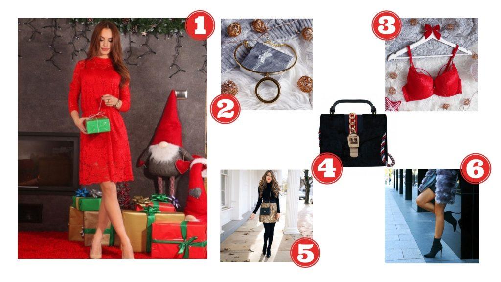 Czerwona sukienka na Święta - stylizacja nr 2