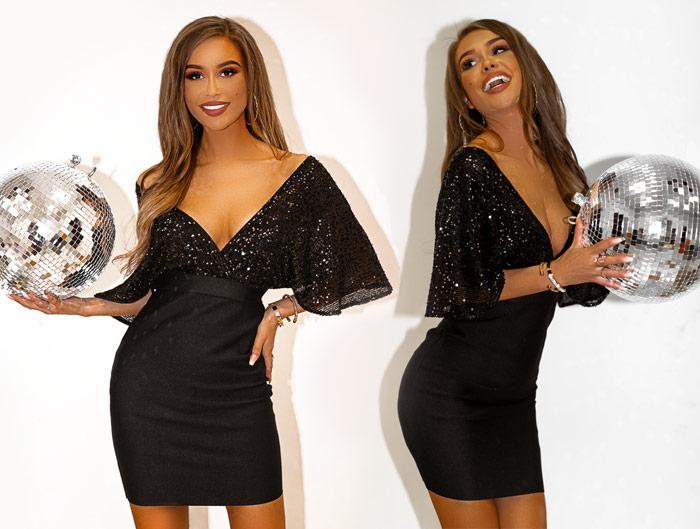 """""""Mała czarna"""" pod choinką, czyli klasyczne stylizacje na święta. Co założyć do czarnej sukienki?"""