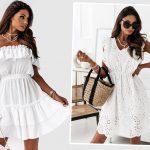 Stylizacje z białą sukienką. Must have lata!
